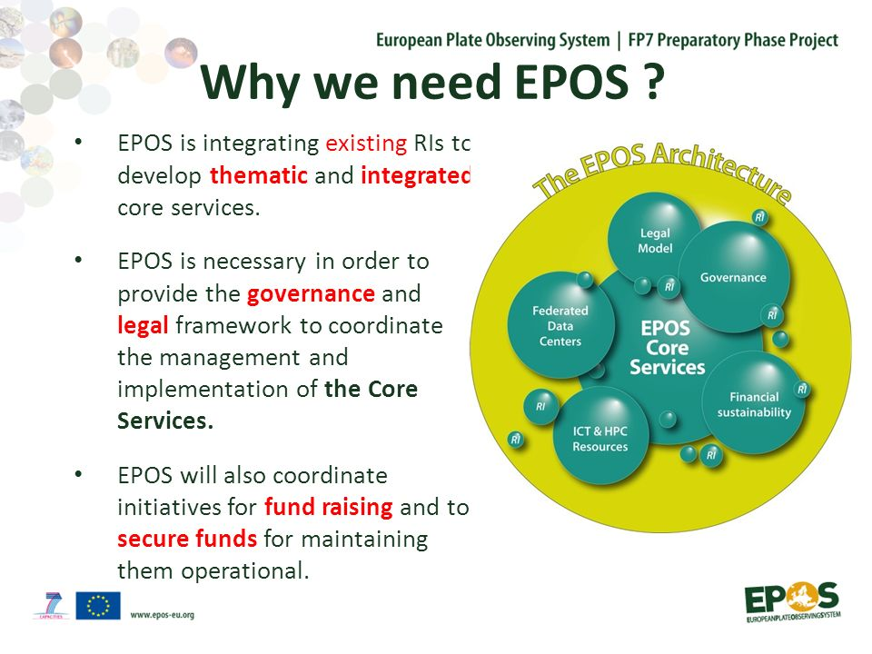 The Community Layer of Thematic Services Thematic Core Services: are infrastructures to provide data services to specific communities also link the National Research Infrastructures to the EPOS Integrated Services consist of existing (e.g.