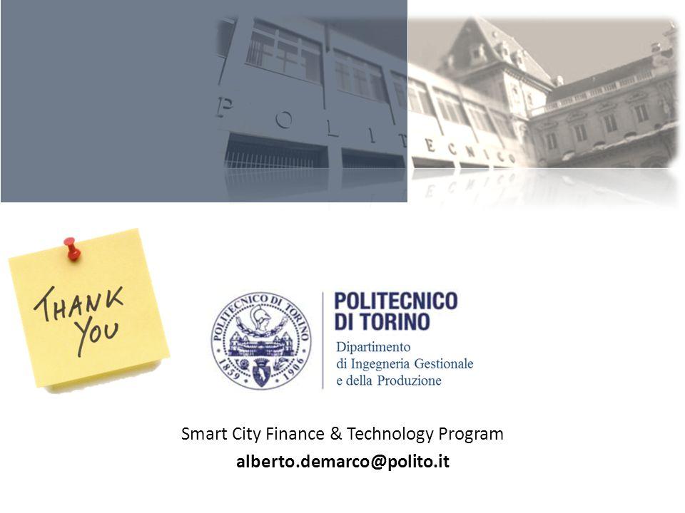 Smart City Finance & Technology Program alberto.demarco@polito.it