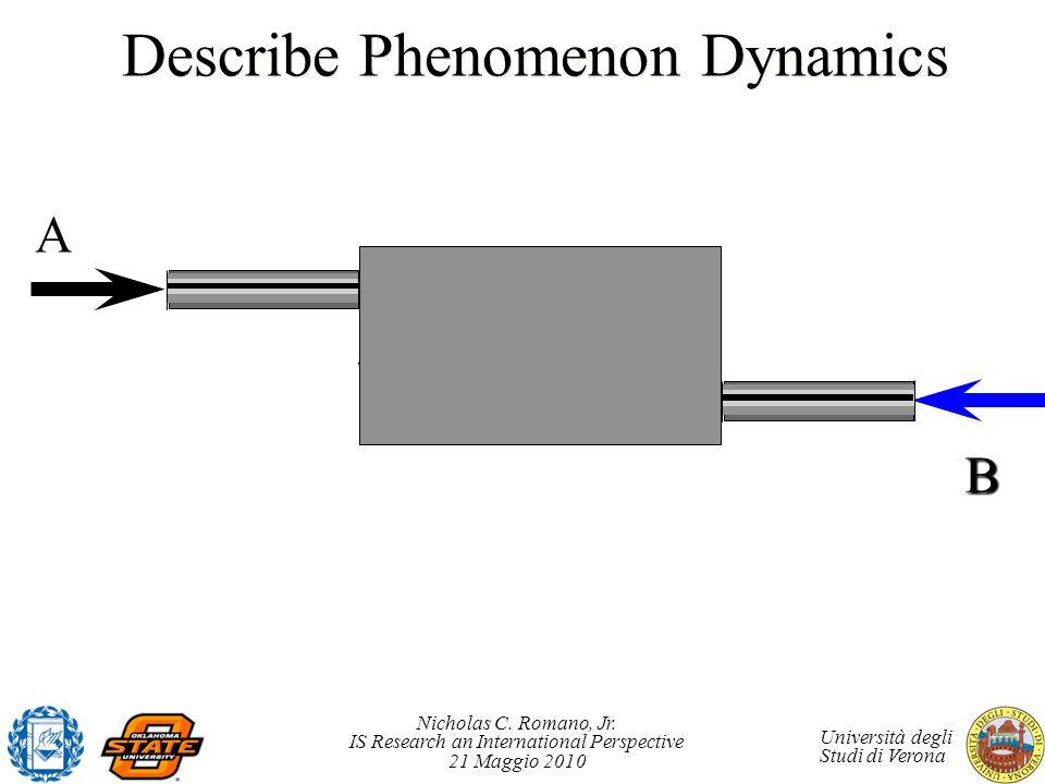 Nicholas C. Romano, Jr. IS Research an International Perspective 21 Maggio 2010 Università degli Studi di Verona NickeziteBlock A Describe Phenomenon