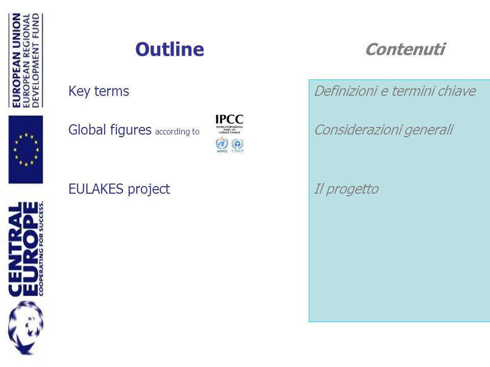 Outline Key terms Global figures according to EULAKES project Definizioni e termini chiave Considerazioni generali Il progetto Contenuti