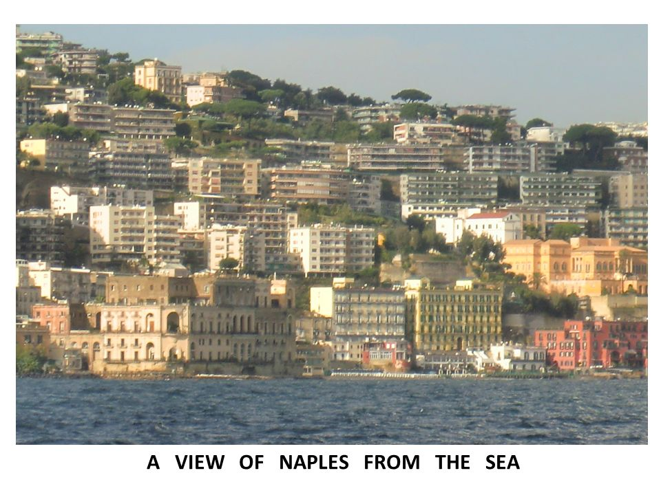 A VIEW OF NAPLES FROM THE SEA
