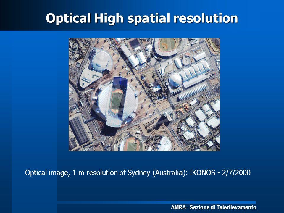 AMRA- Sezione di Telerilevamento Optical High spatial resolution Optical image, 1 m resolution of Sydney (Australia): IKONOS - 2/7/2000
