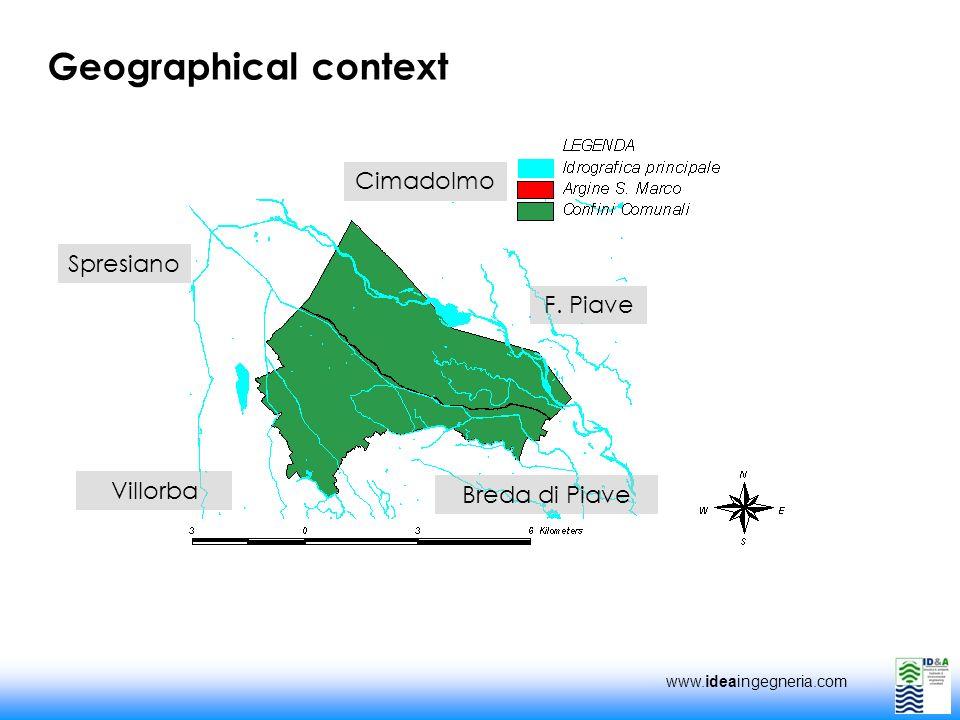 www.ideaingegneria.com Geographical context Cimadolmo Villorba Spresiano Breda di Piave F. Piave