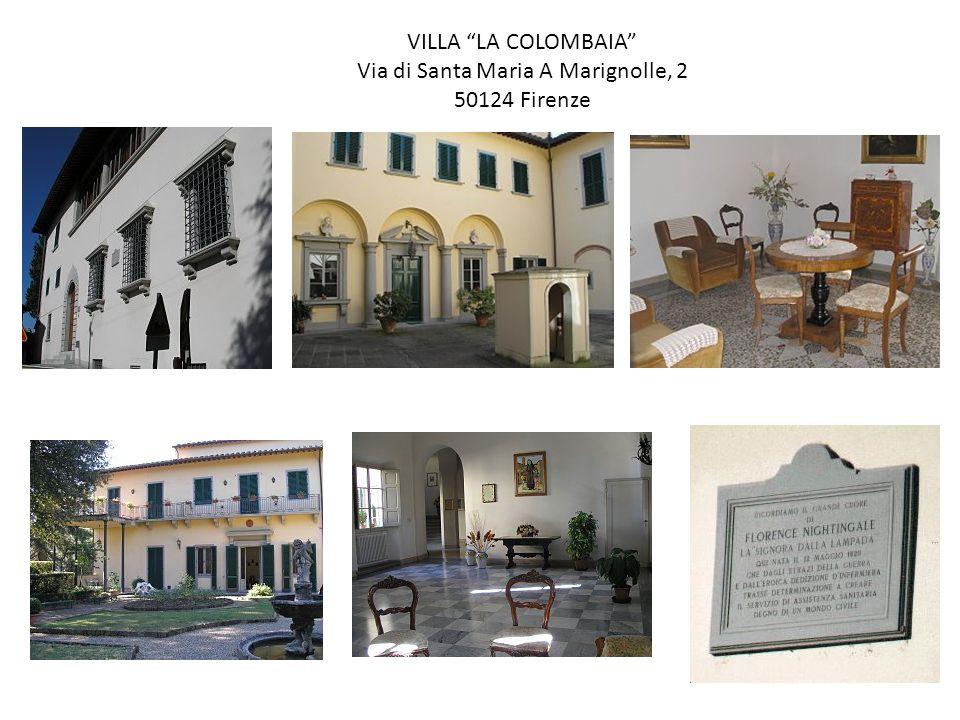 VILLA LA COLOMBAIA Via di Santa Maria A Marignolle, 2 50124 Firenze