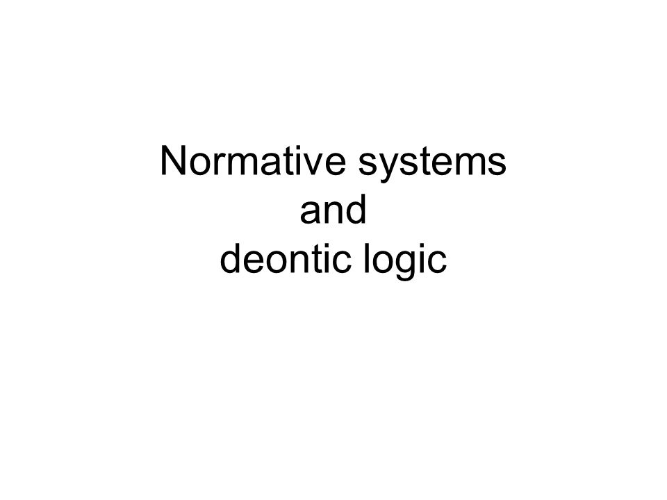 Normative systems and deontic logic