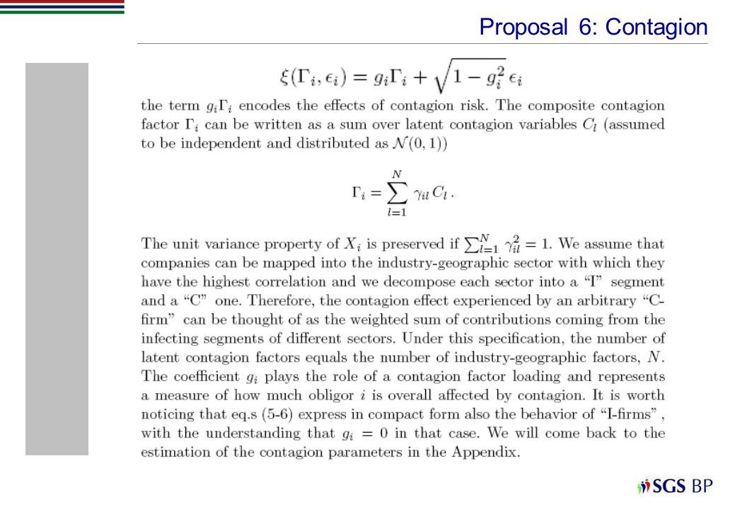 Proposal 6: Contagion