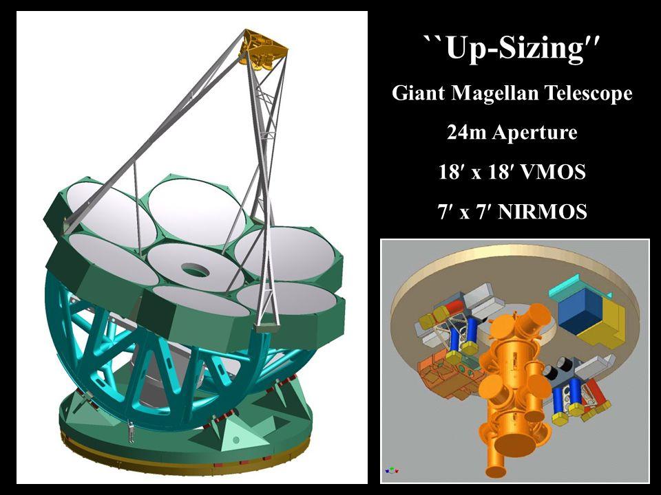 Basics ``Up-Sizing Giant Magellan Telescope 24m Aperture 18 x 18 VMOS 7 x 7 NIRMOS