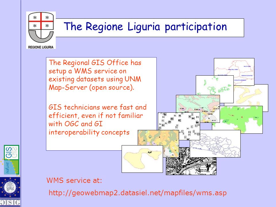 The Regional GIS Office has setup a WMS service on existing datasets using UNM Map-Server (open source). GIS technicians were fast and efficient, even