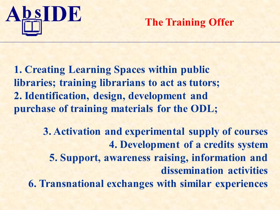 The Training Offer 1.