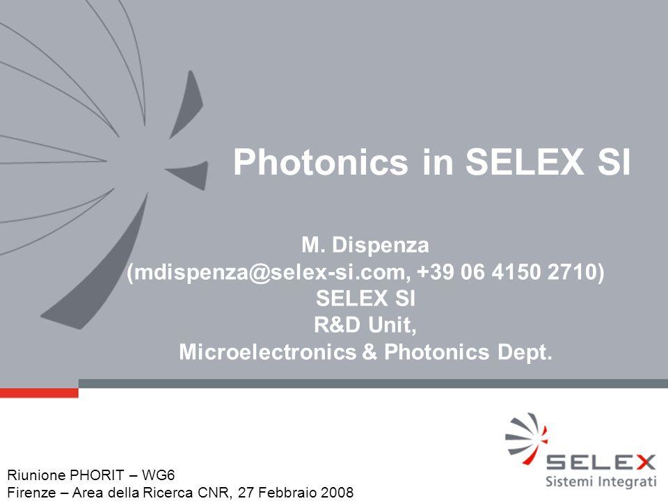 Photonics in SELEX SI M.