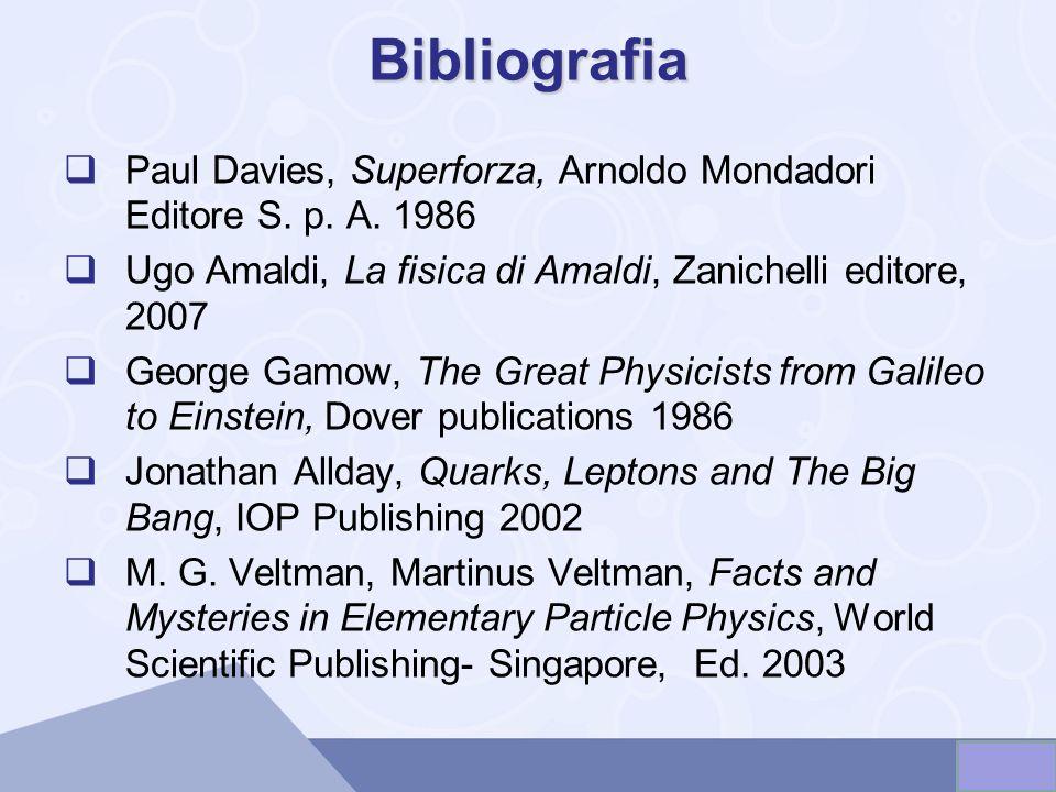 Bibliografia Paul Davies, Superforza, Arnoldo Mondadori Editore S.