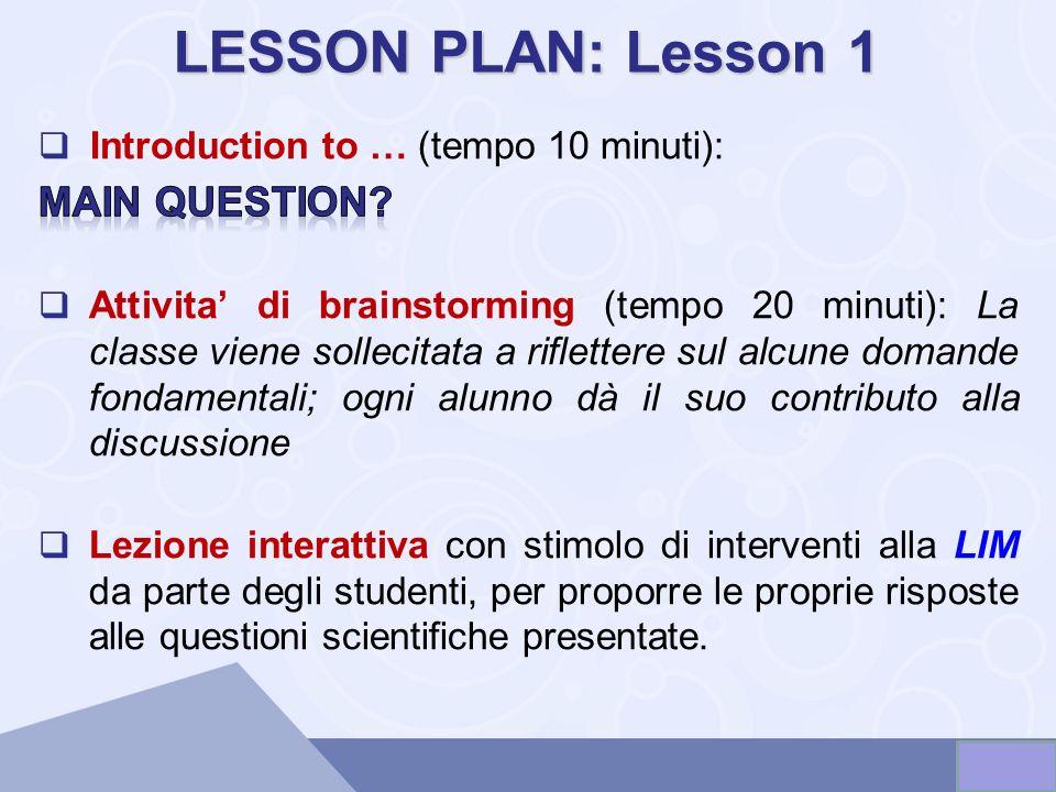 LESSON PLAN: Lesson 1