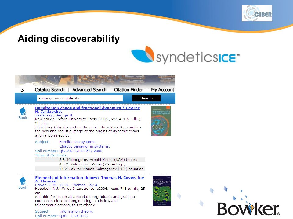 Aiding discoverability