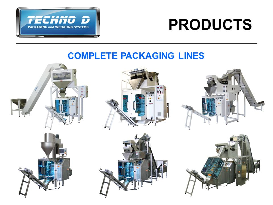 PRODUCTS COMPLETE PACKAGING LINES