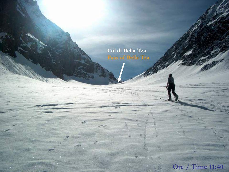 Col di Bella Tza Pass of Bella Tza Ore / Time 11:40