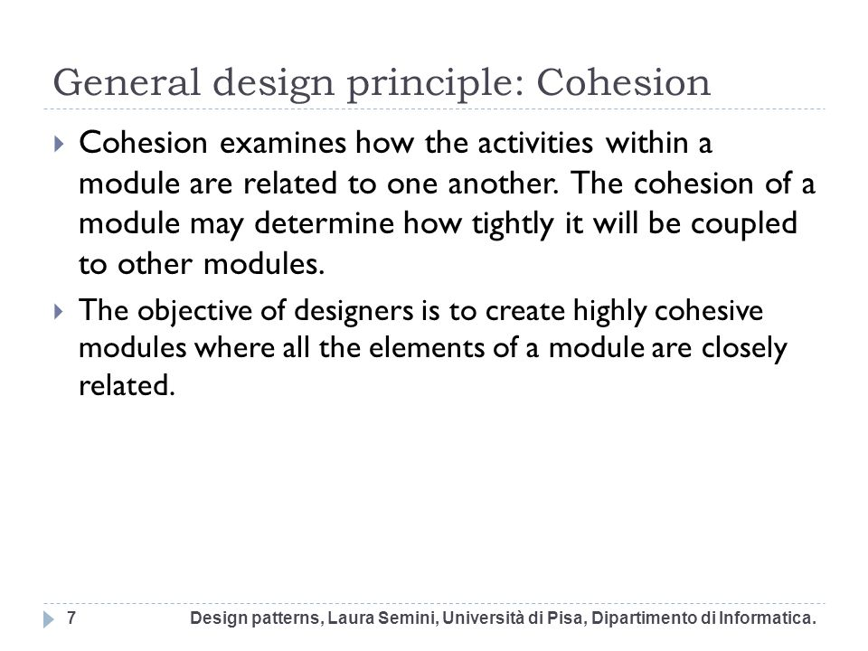 OO design A (too ) simple definition : In the analysis part of the current and previous iterations you have Identified use cases and created use case descriptions to get the requirements Created and refined the domain concept model Now in order to make a piece of object design you Assign methods to software classes Design how the classes collaborate (i.e.