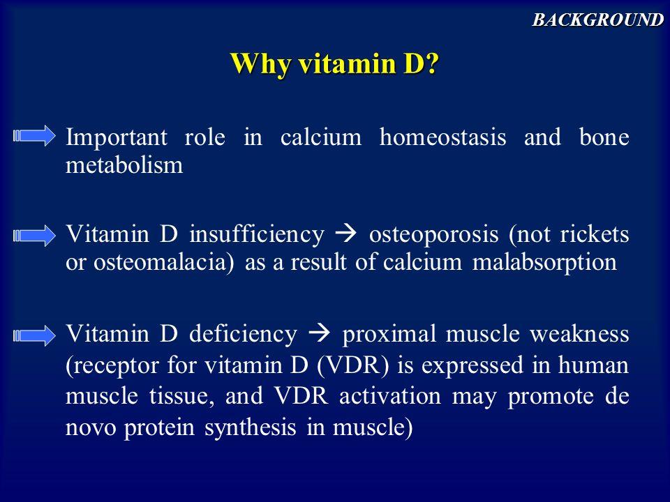 Why vitamin D.