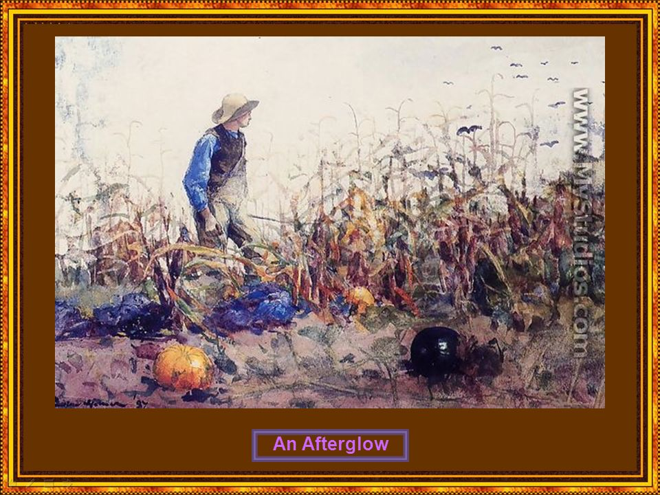 Among the Vegetables (or Boy in a Cornfield)