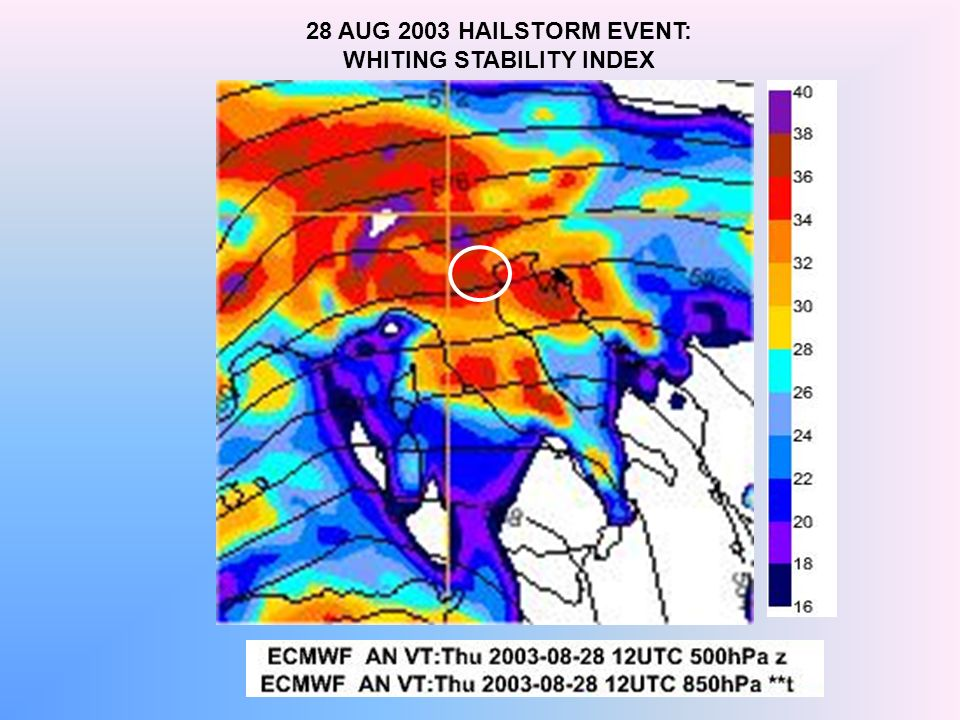 28 AUG 2003 HAILSTORM EVENT: WHITING STABILITY INDEX