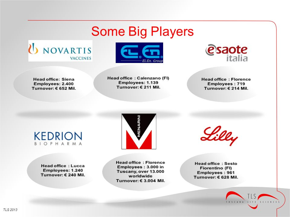 TLS 2013 Some Big Players