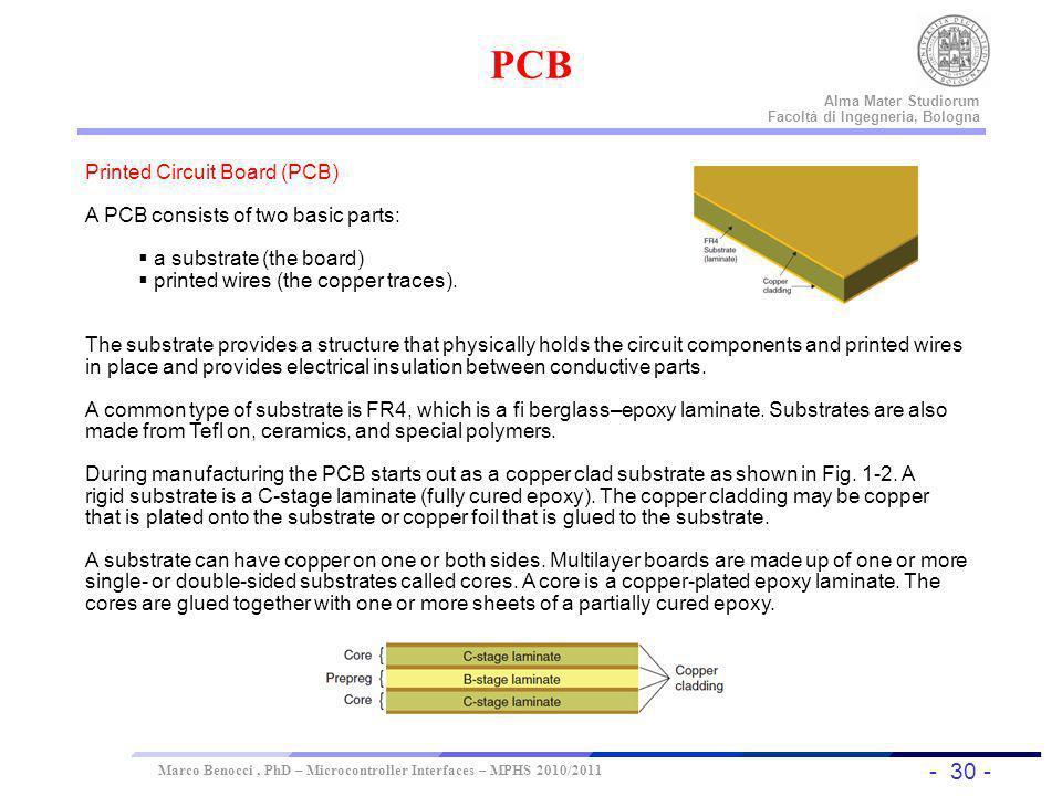 - 30 - Universität Dortmund Alma Mater Studiorum Facoltà di Ingegneria, Bologna Marco Benocci, PhD – Microcontroller Interfaces – MPHS 2010/2011 Print