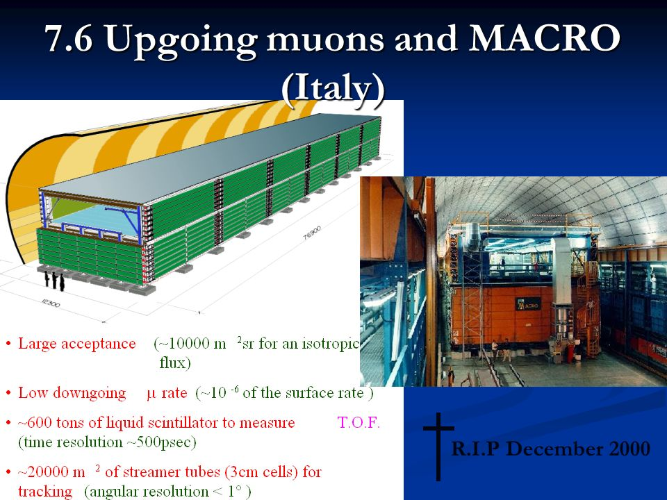 7.6 Upgoing muons and MACRO (Italy) R.I.P December 2000