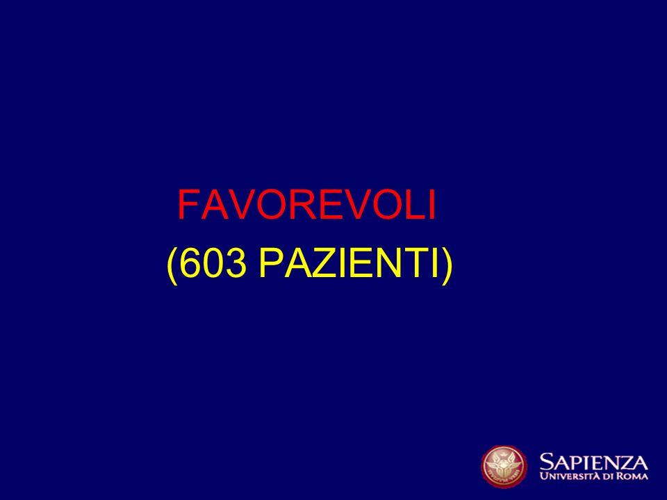FAVOREVOLI (603 PAZIENTI)