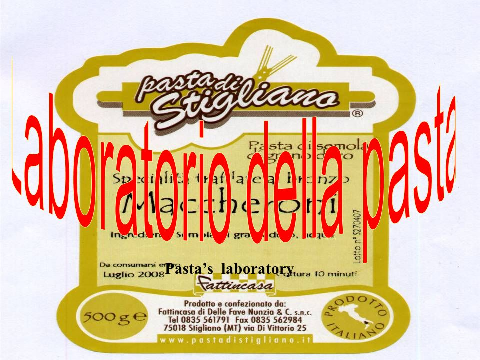 Pastas laboratory