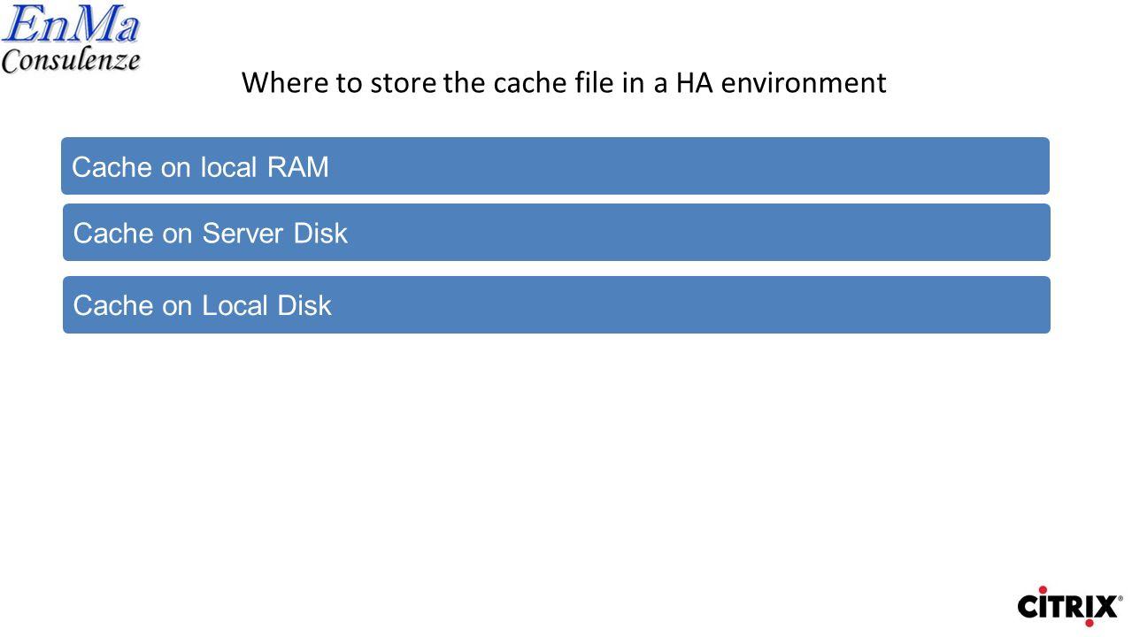 Cache on Local RAM Shared Storage vDisks SQL database Cache PVS1 PVS2 X