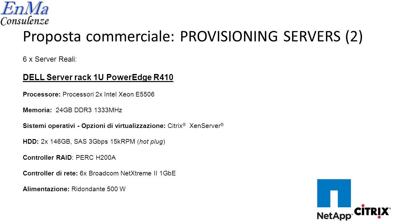 Proposta commerciale: NETWORK STORAGE NetApp FAS2040-R5 - 24 x 450 GB (15K) - 8 (4+4) porte 1 Gb - 4 (2+2) porte 8 Gb Base Sw inclusi Licenza CIFS-NFS Garanzia 5y NBD 50.000,00