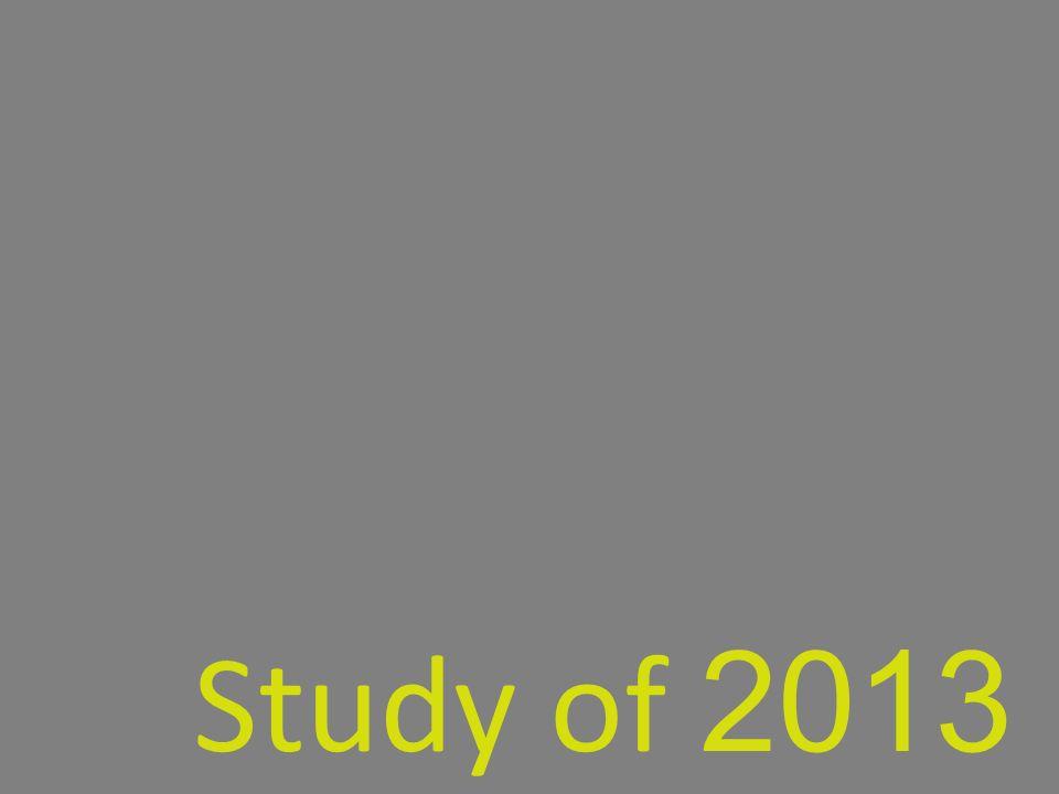 Study of 2013