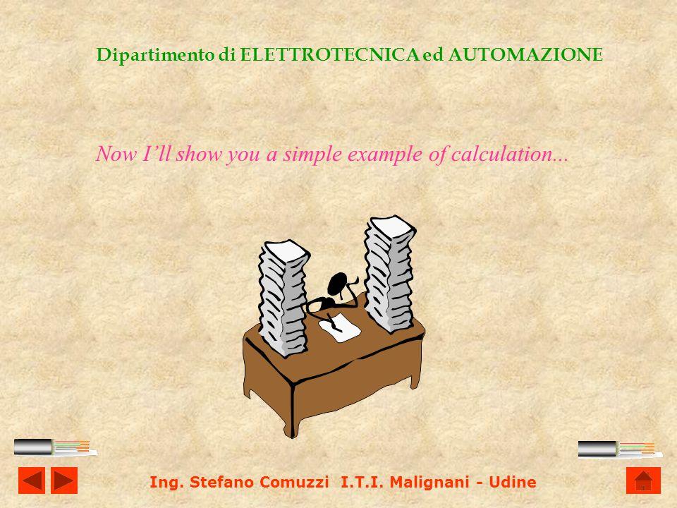 Ing. Stefano Comuzzi I.T.I. Malignani - Udine Dipartimento di ELETTROTECNICA ed AUTOMAZIONE