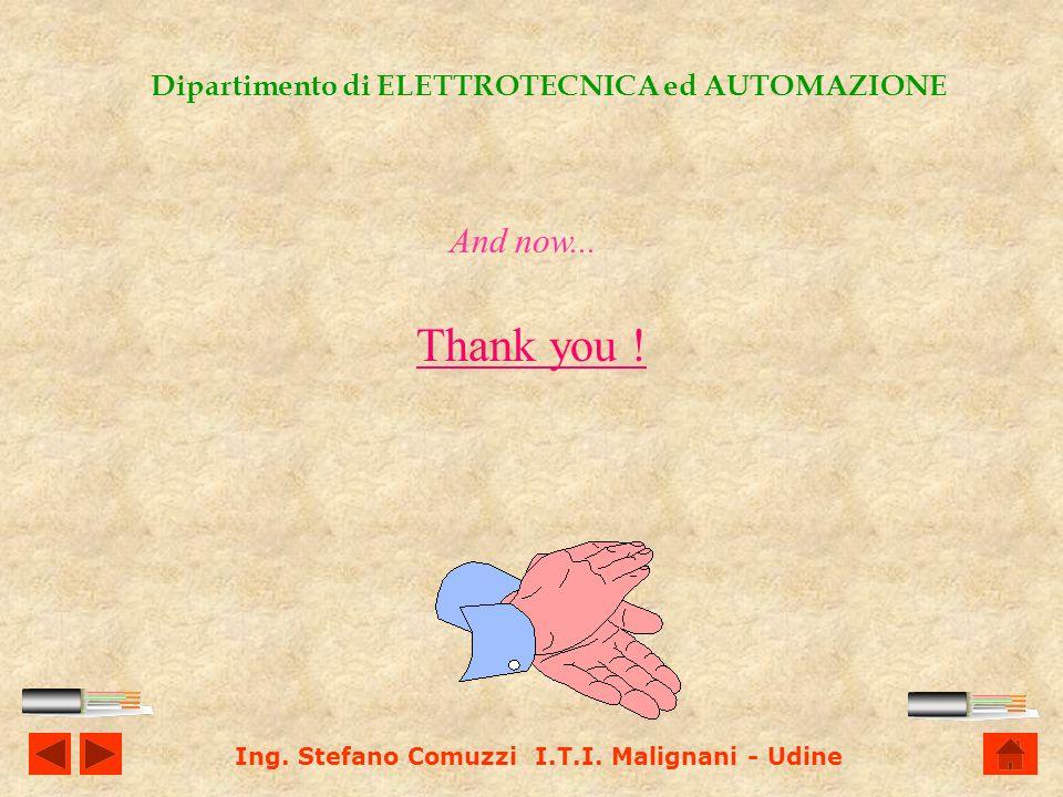 Ing. Stefano Comuzzi I.T.I. Malignani - Udine Dipartimento di ELETTROTECNICA ed AUTOMAZIONE Now Ill show you a simple example of calculation...