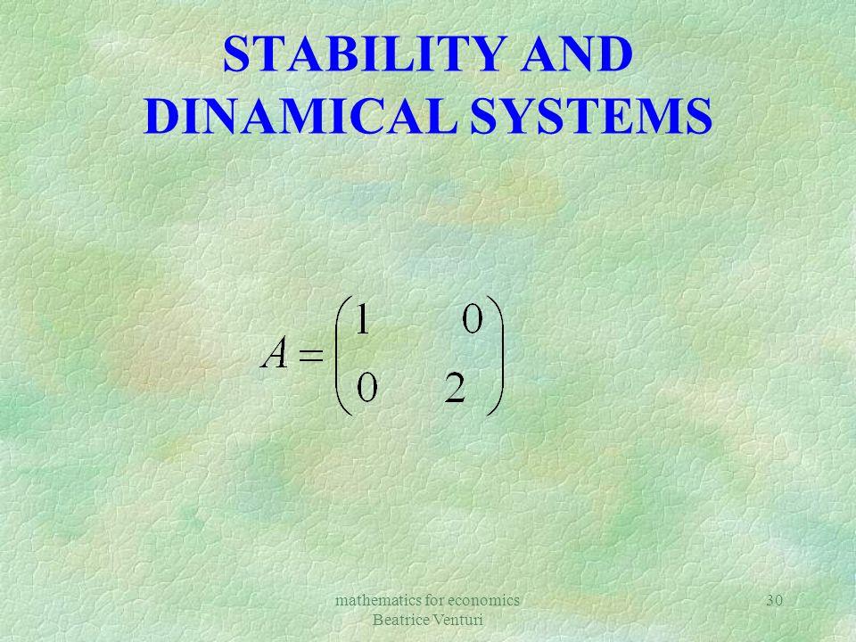mathematics for economics Beatrice Venturi 30