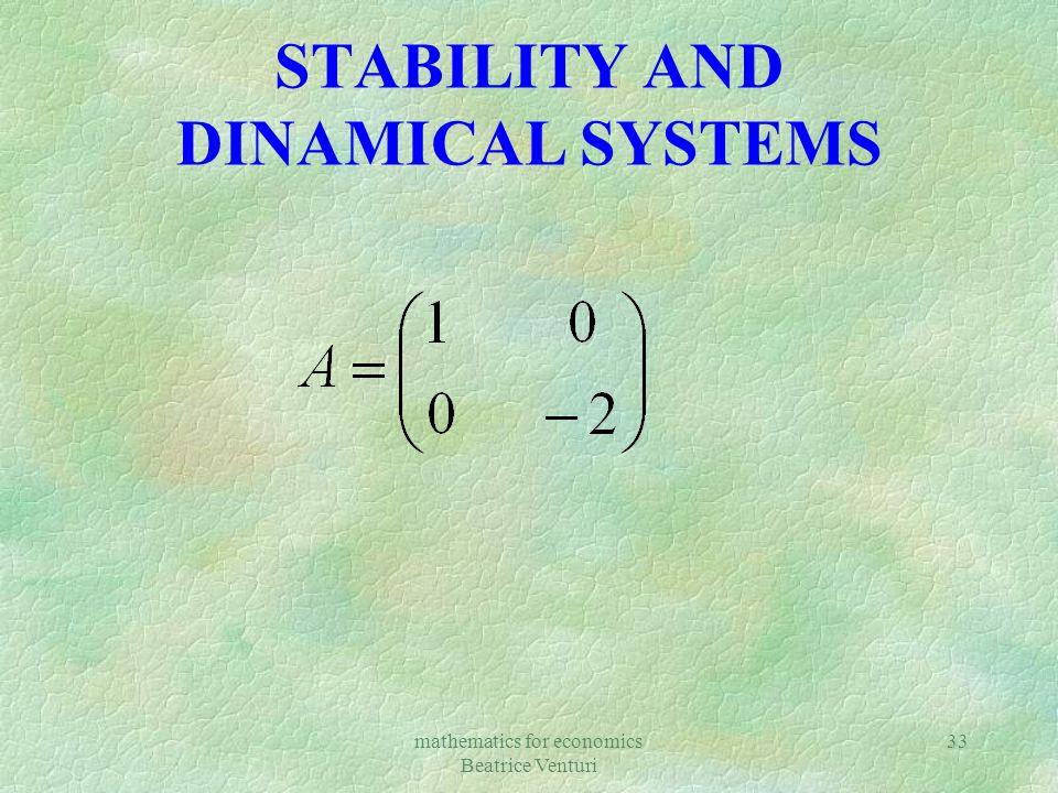 mathematics for economics Beatrice Venturi 33