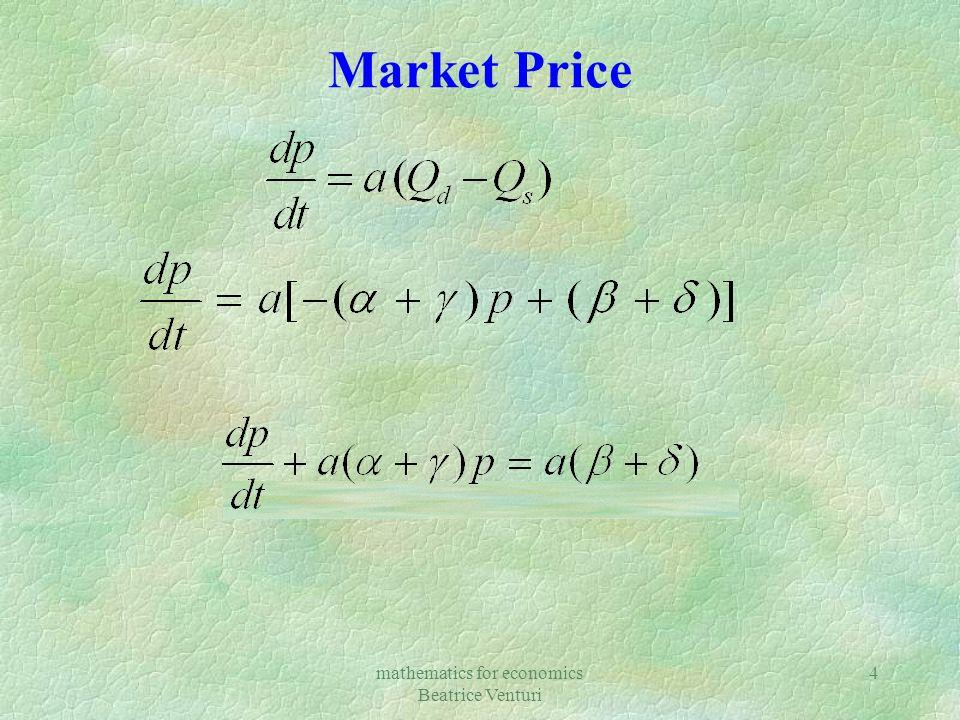 mathematics for economics Beatrice Venturi 4 Market Price