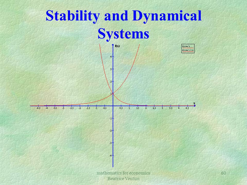 mathematics for economics Beatrice Venturi 60 Stability and Dynamical Systems
