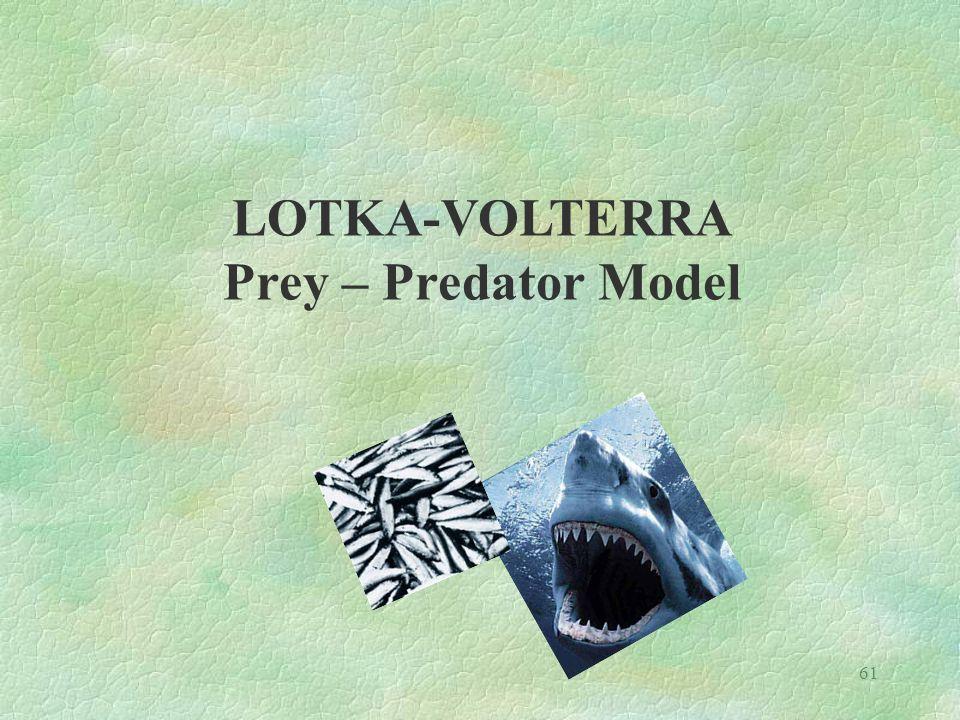61 LOTKA-VOLTERRA Prey – Predator Model