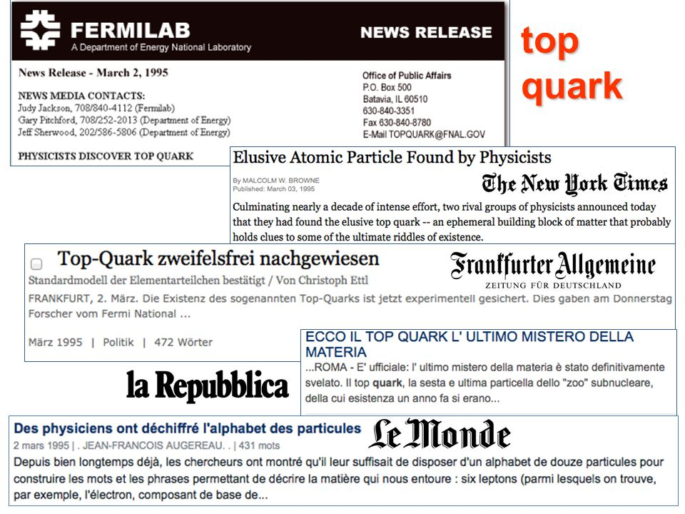 Maria Grazia Pia, INFN Genova 20 top quark