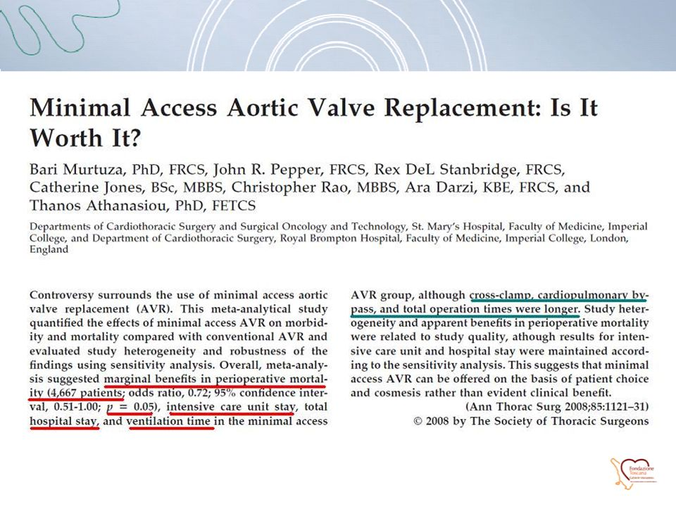 Murtuza B. et al.; Ann Thorac Surg 2008;85:1121-1131