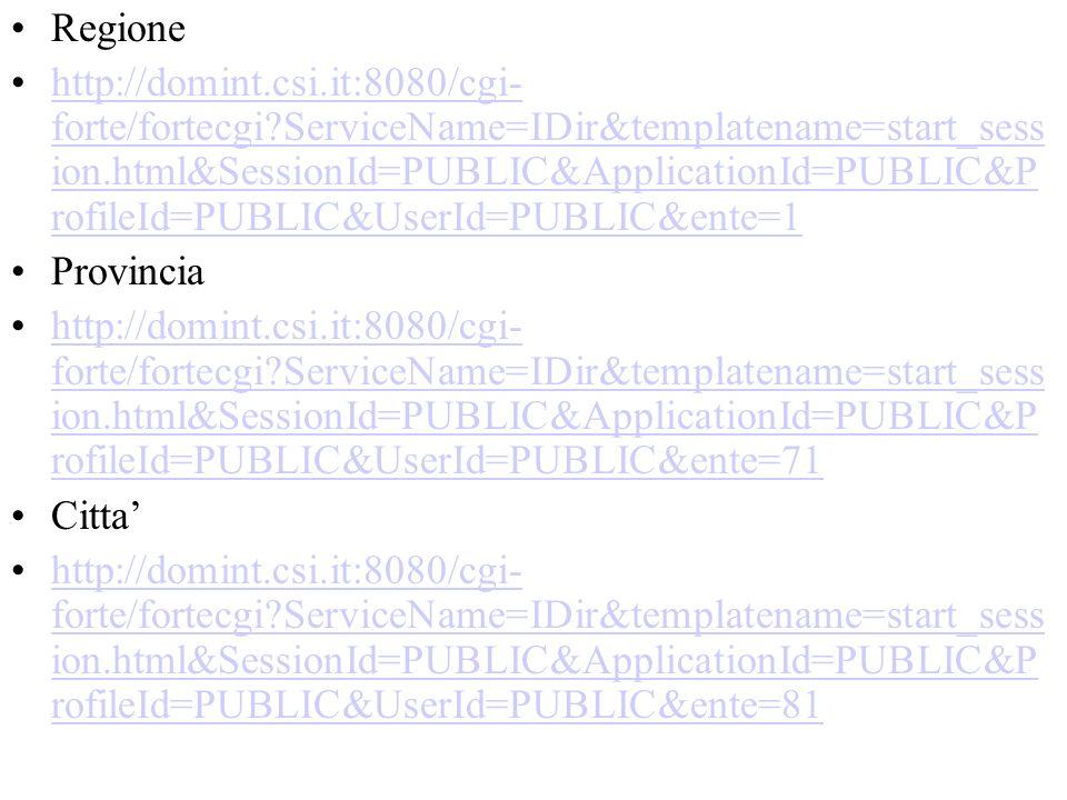 Regione http://domint.csi.it:8080/cgi- forte/fortecgi?ServiceName=IDir&templatename=start_sess ion.html&SessionId=PUBLIC&ApplicationId=PUBLIC&P rofile