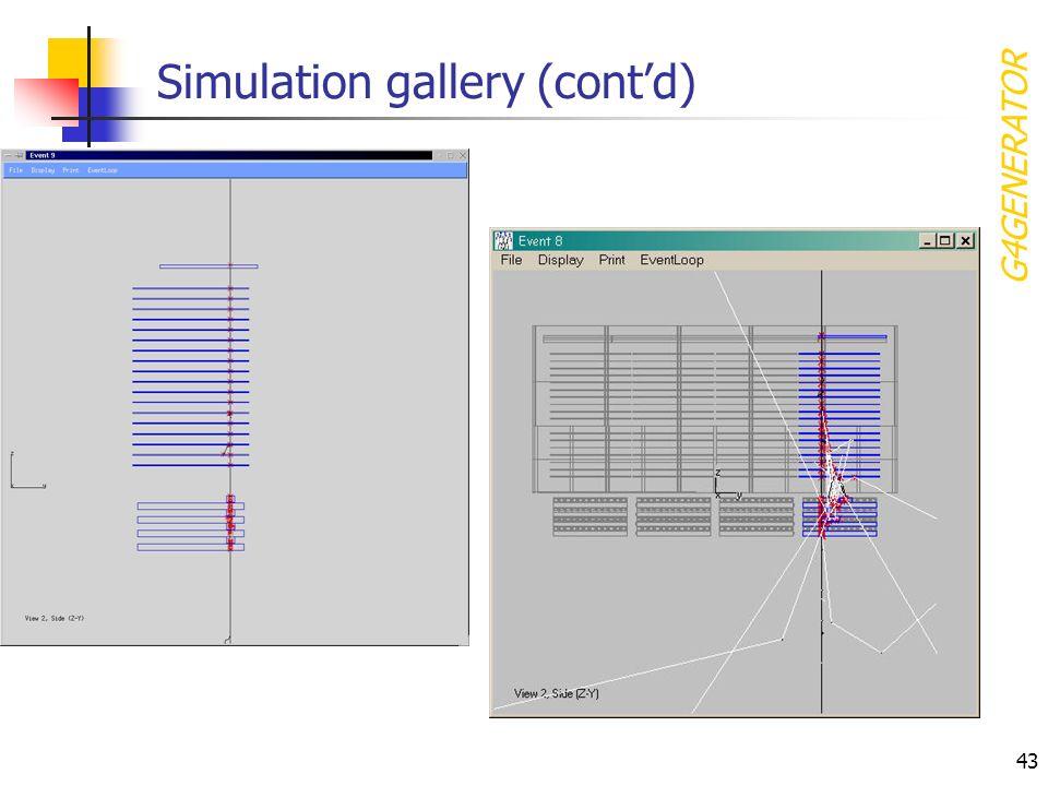43 Simulation gallery (contd) G4GENERATOR