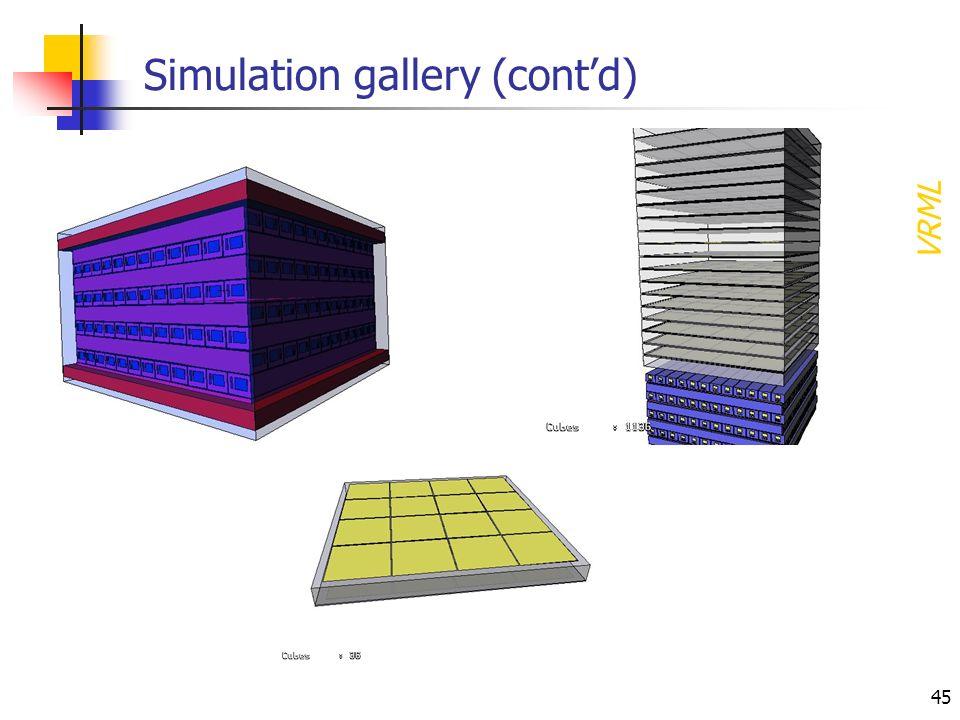 45 Simulation gallery (contd) VRML