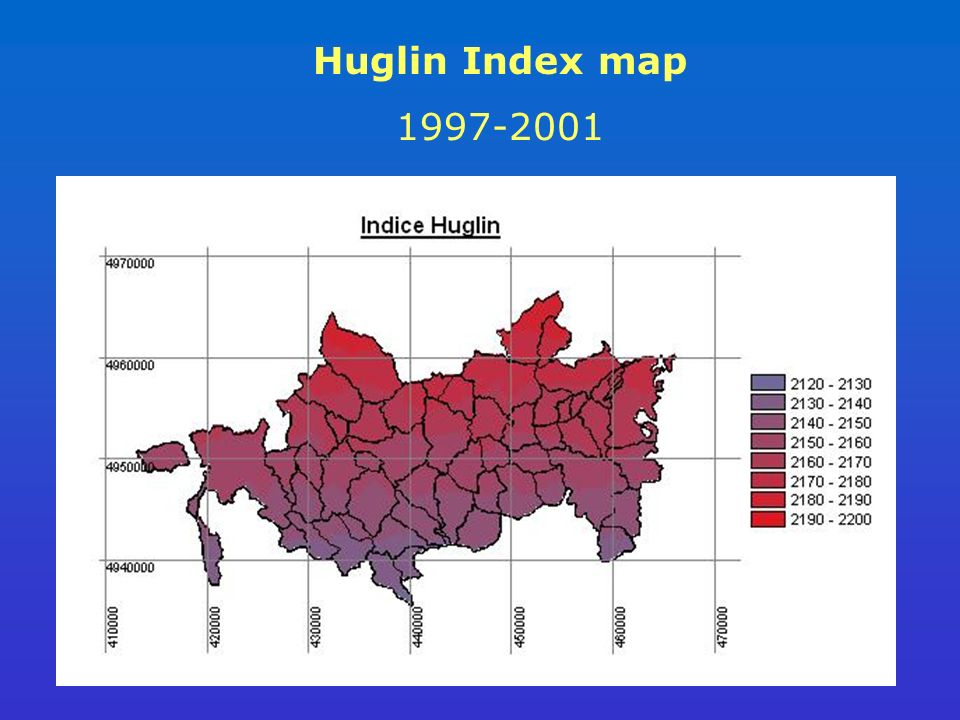 Huglin Index map 1997-2001