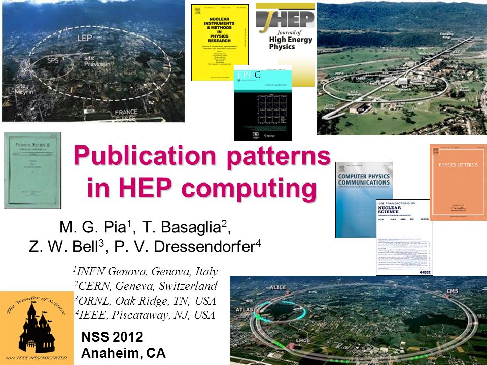 Maria Grazia Pia, INFN Genova 1 Publication patterns in HEP computing M.