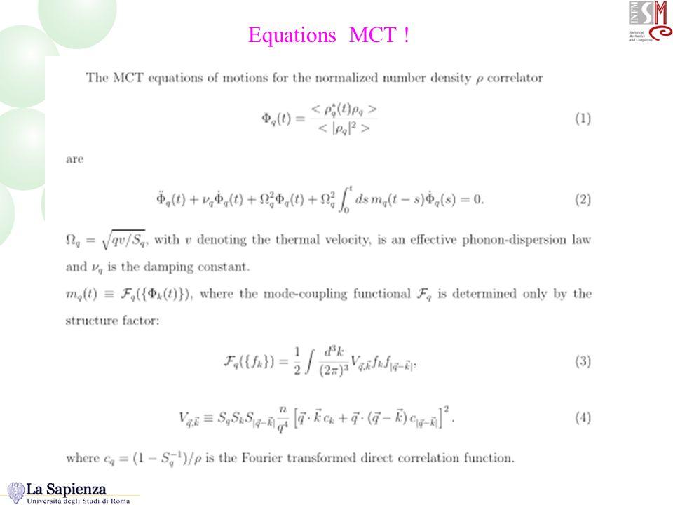 Equations MCT ! Equazioni base della MCT