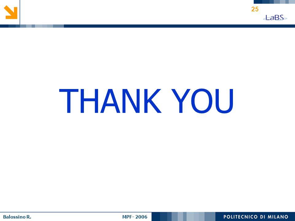 Balossino R. MPF- 2006 25 THANK YOU