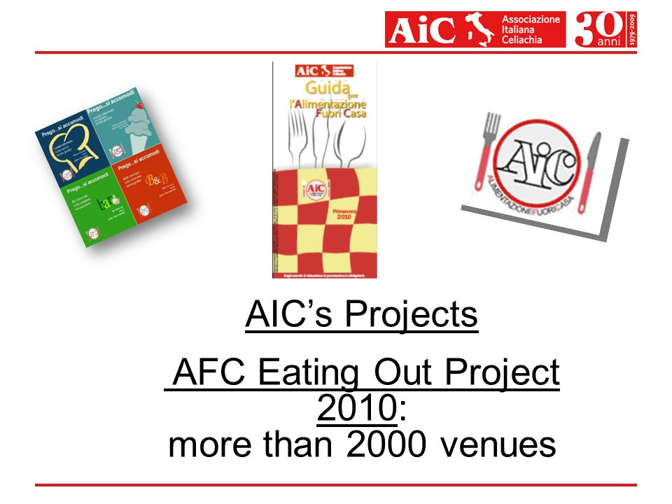 AICs Projects AFC Eating Out Project 2010: more than 2000 venues