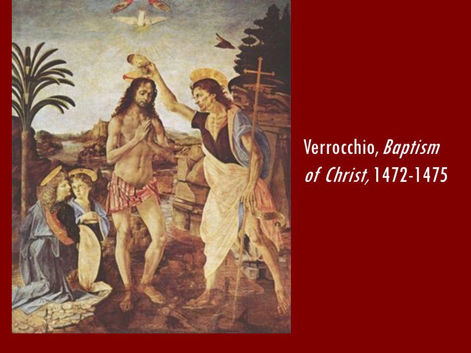 Verrocchio, Baptism of Christ, 1472-1475