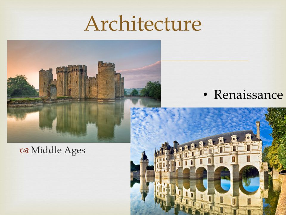 Middle Ages Architecture Renaissance